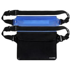 Zacro 2 Stück Wasserdichte Tasche mit Verstellbarem Gurt Wasserdichte Beutel Handyhülle Schutzhülle Strand-Tasche für Geld PLATZ 1